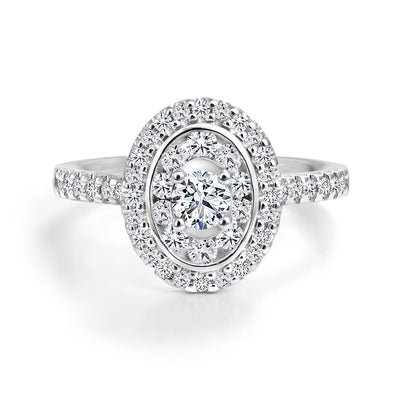 CR-R13195 - 14K White Gold Canadian Diamond Engagement Ring