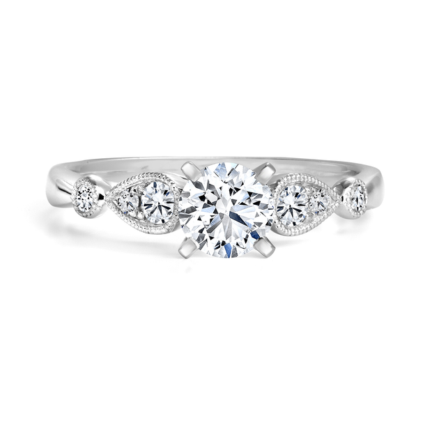 CR-R133255WB - 14K White Gold Canadian Diamond Engagement Ring