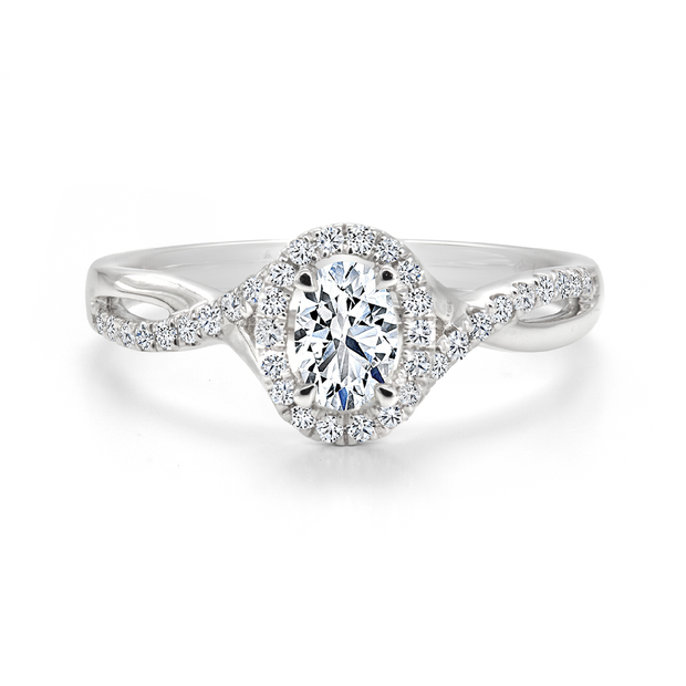 CR-R133570 - 14K White Gold Canadian Diamond Engagement Ring
