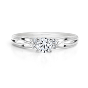 CR-R137881 - 14K White Gold Canadian Diamond Engagement Ring
