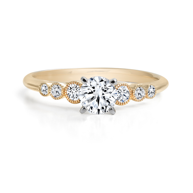 CR-R138420 - 14K Rose Gold Canadian Diamond Engagement Ring