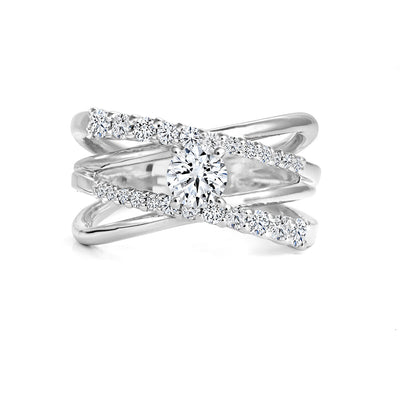 CR-R13978 - 14K White Gold Canadian Diamond Engagement Ring
