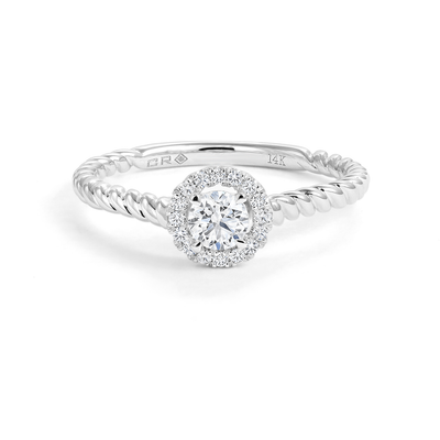CR-R144750 - 14K White Gold Canadian Diamond  Engagement Ring
