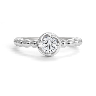 CR-R14769 - 14K White Gold Canadian Diamond Engagement Ring