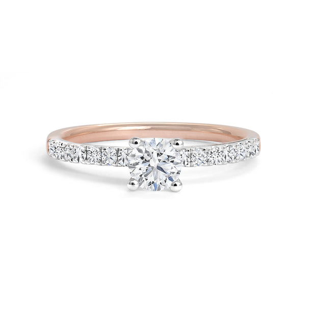 CR-R15569 - 14K White & Rose Gold Canadian Diamond Engagement Ring