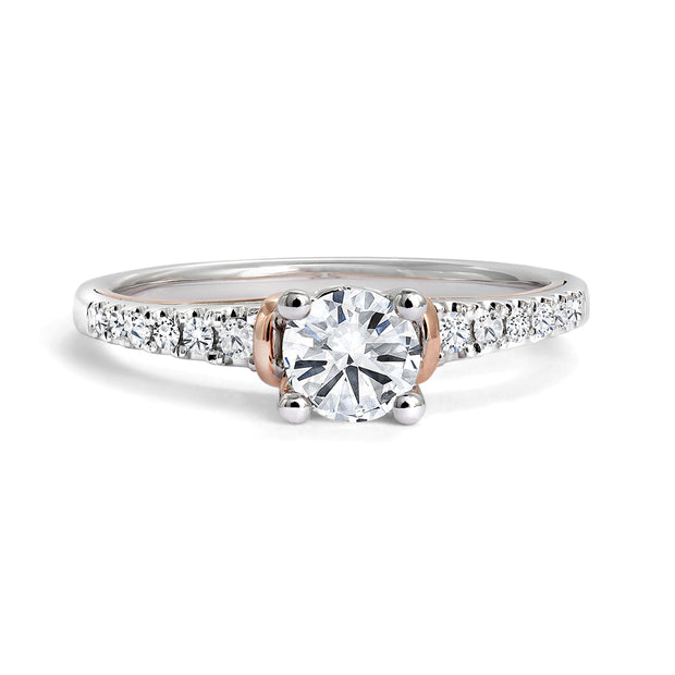 CR-R15572 - 14K White & Rose Gold Canadian Diamond Engagement Ring
