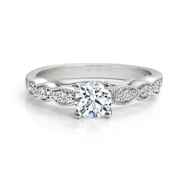 CR-R1530-17WR- 14 K Gold and 0.65 Ctw Engagement Diamond Ring