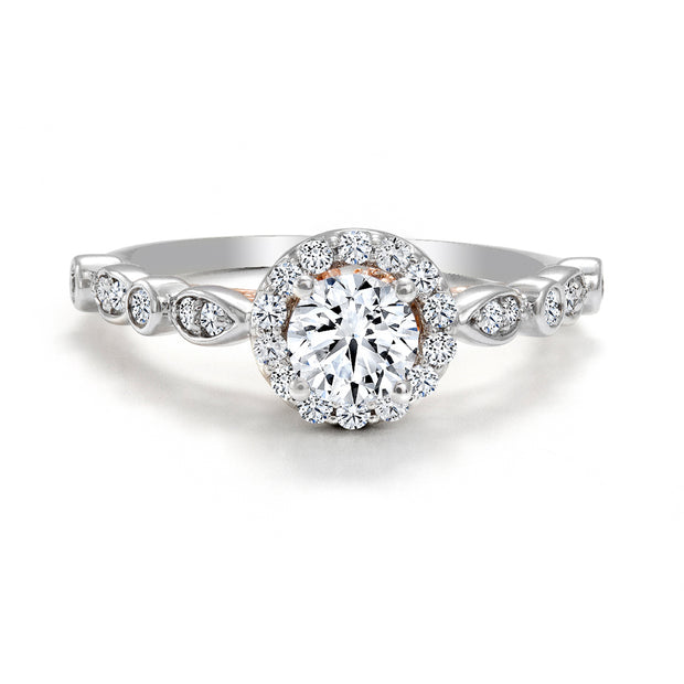 CR-R2069-50WR- 14 K Gold and 0.9 Ctw Engagement Diamond Ring