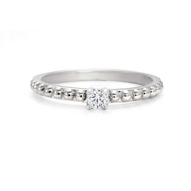 CR-R2111- 10 K Gold and 0.10Ctw Fancy Diamond Ring