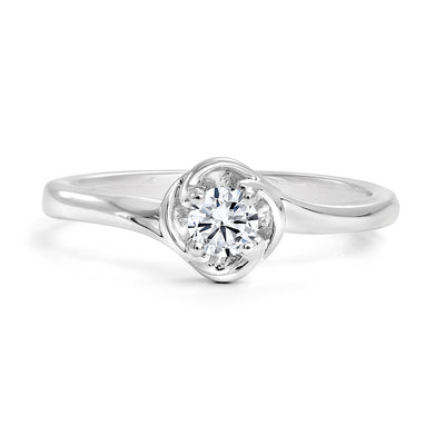 CR-R33640 - 14K White Gold Canadian Diamond Engagement Ring