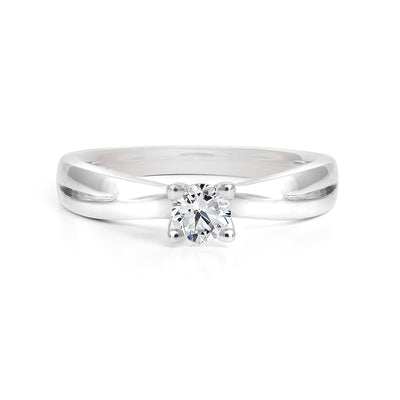 CR-R33641 - 14K White Gold Canadian Diamond Engagement Ring