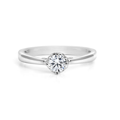 CR-R33642 - 14K White Gold Canadian Diamond Engagement Ring
