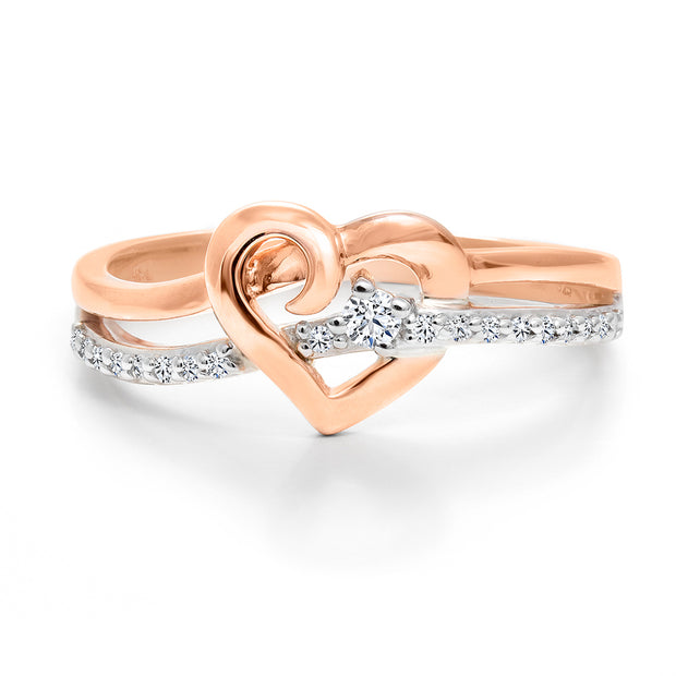 CR-R51777 - 10K White & Rose Gold Canadian Diamond Engagement Ring