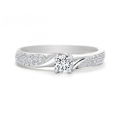 CR-RA3111 - 14K White Gold Canadian Diamond Engagement Ring