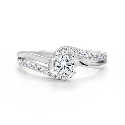 CR-RA3112 - 14K White Gold Canadian Diamond Engagement Ring
