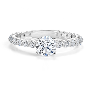 CR-RFCF2 - 14K White Gold Canadian Diamond Engagement Ring