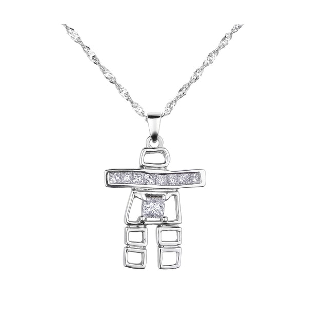 CR-P312 - 14K White Gold Canadian Diamond Pendant
