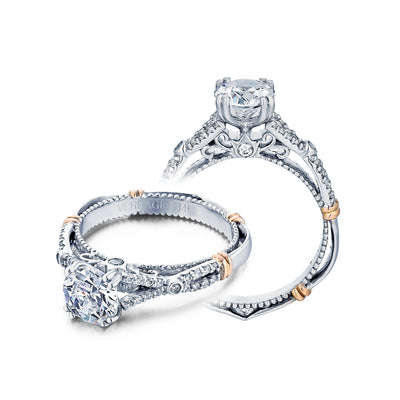 D-102 - Verragio - 14K 0.20ctw Semi- Mount Engagement Ring