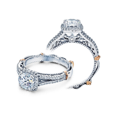 D-107CU - Verragio - 14K 0.30ctw Semi- Mount Engagement Ring