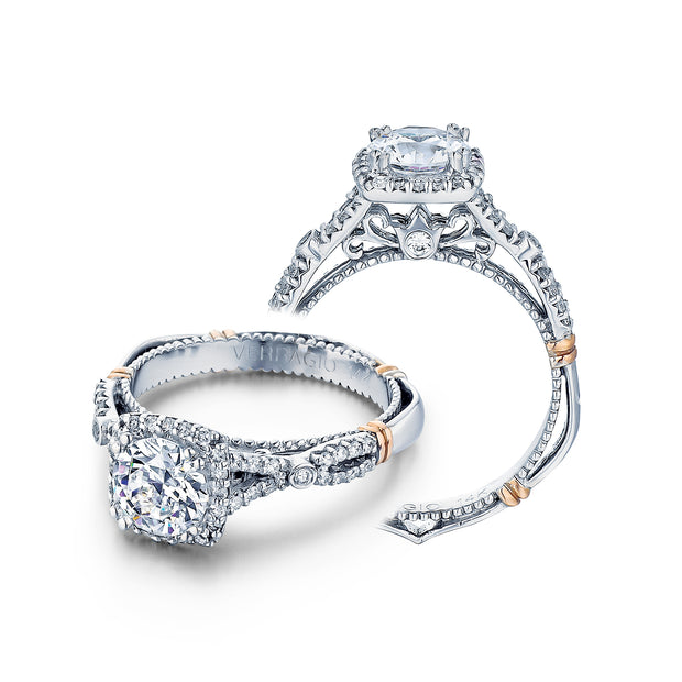 D-109CU - Verragio - 14K 0.30ctw Semi- Mount Engagement Ring