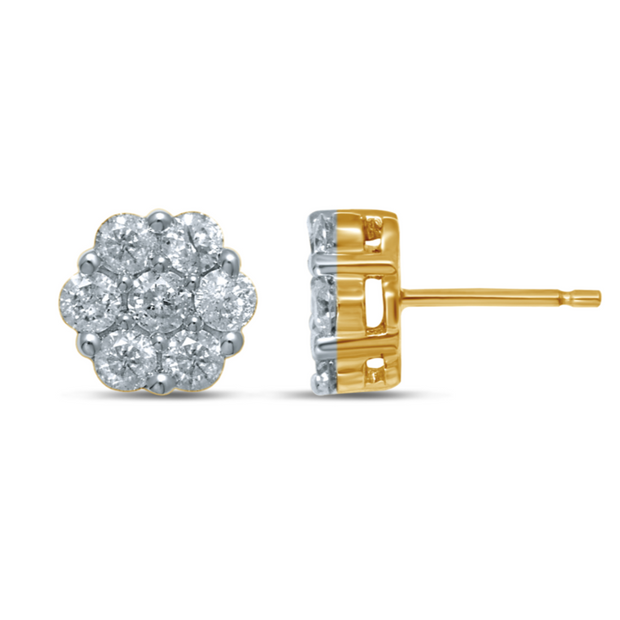 14K 0.08ct Diamond Earring