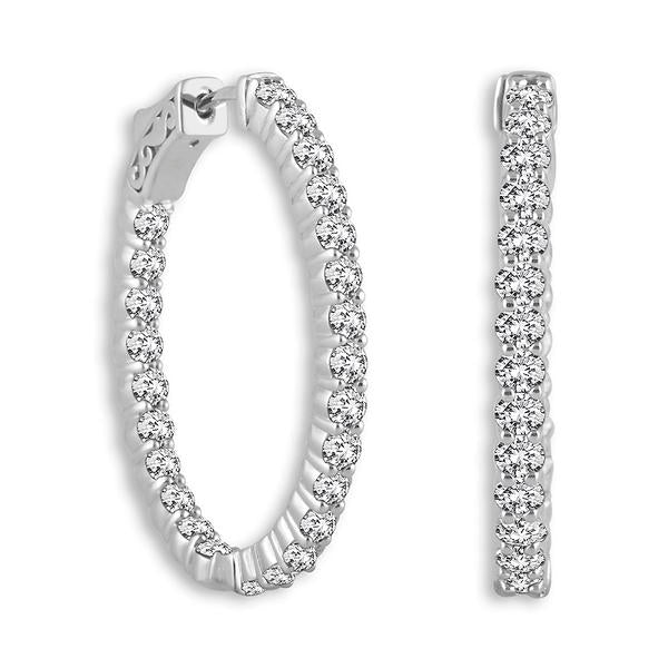 Oval Shape (Shared Prongs) Hoop