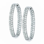 OVAL PAVE HOOPS