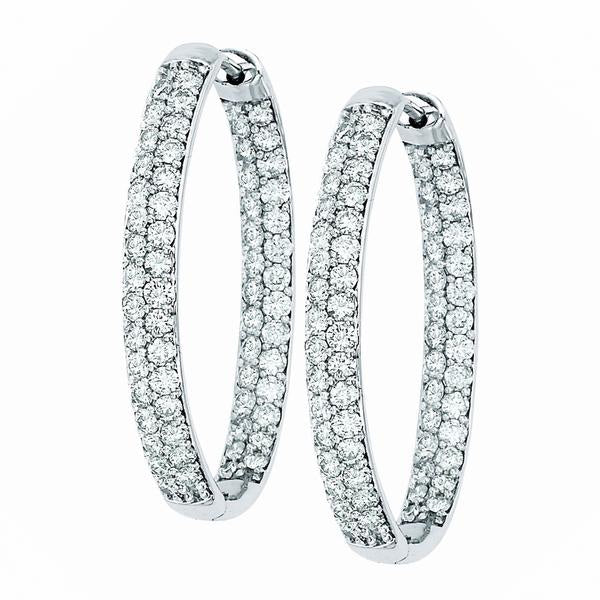 ROUND PAVE HOOPS