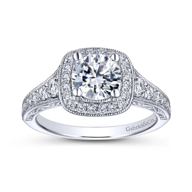 gabriel-&-co-er7293w44jj-14k-white-gold-0-6-diamond-cushion-shape-halo-and-filigree-and-milgrain-engagement-ring
