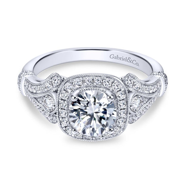 14k-White-Gold-0.42-ctw-Diamond-Halo-and-Filgree-Setting-Engagement-Ring-Fame-Diamonds