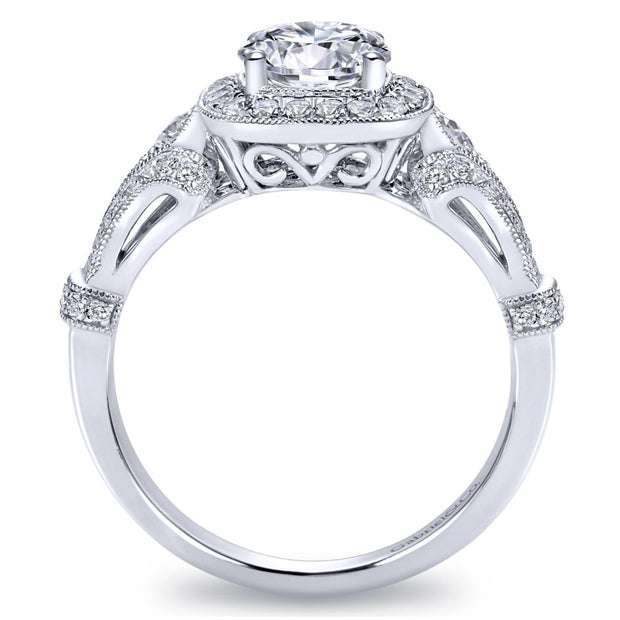 14k-White-Gold-0.42-ctw-Diamond-Gabriel-&-Co.-ER7479W44JJ-Antique-Cushion-Engagement-Ring-Fame-Diamonds