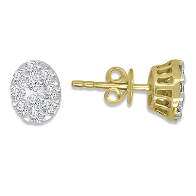 Golden Diamond Earring