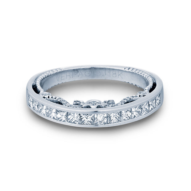 Verragio-Insignia 7064W 0.85ctw Princess Channel-Set Woman's Wedding Band | Fame Diamonds