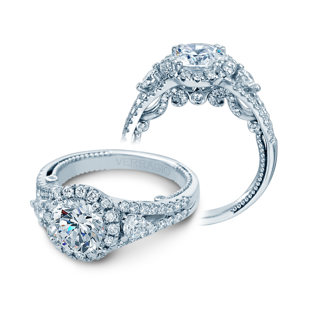 INS-7068RL- Verragio - 14K 1.00ctw Semi- Mount Engagement Ring