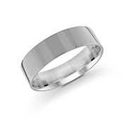 Men's Flat Satin Finish Wedding Band 6 mm | Fame Diamonds