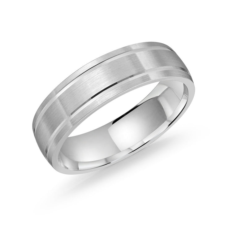 mens-matte-finish-white-gold-grooved-wedding-band-6mm-fame-diamonds