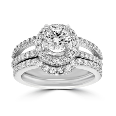 Diamond Engagement Band with Hab Design