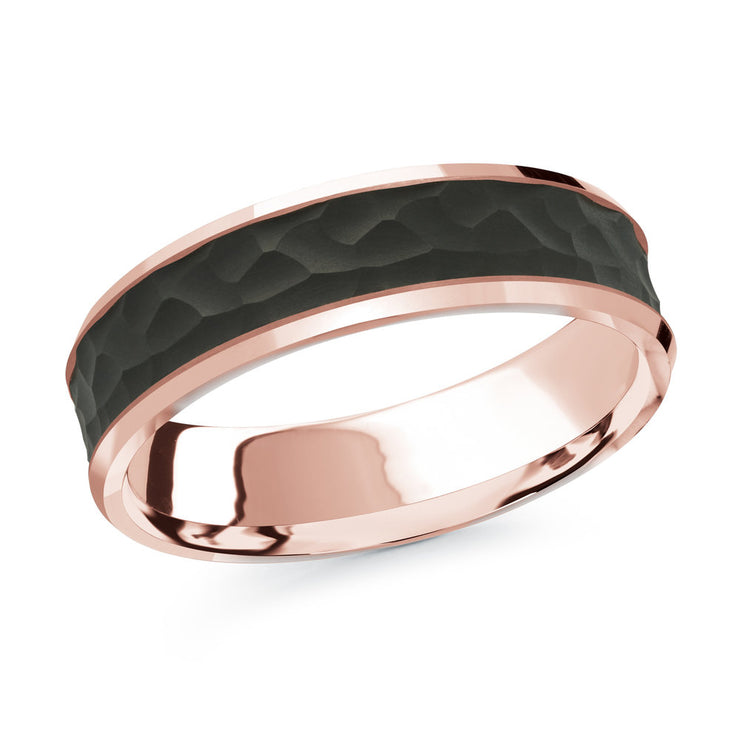 carbon-fiber-hammer-finish-14k-rose-gold-satin-finish-inlay-mens-wedding-band-6-mm-fame-diamonds