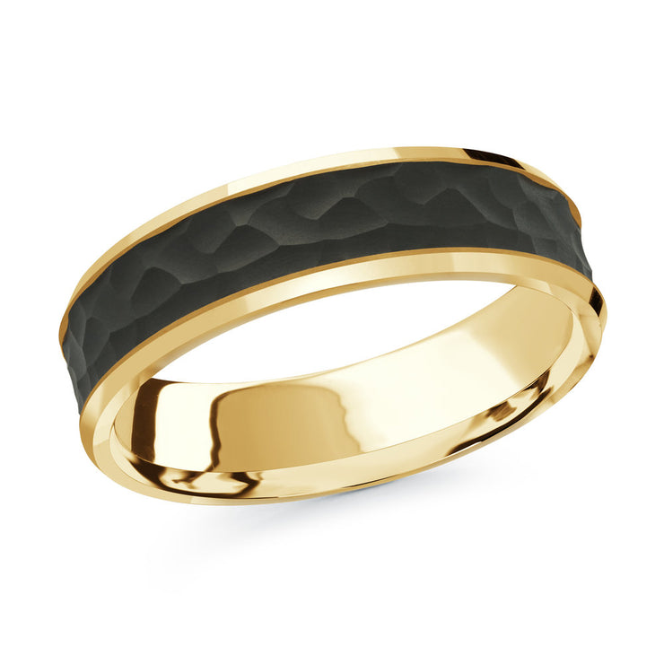 carbon-fiber-hammer-finish-14k-yellow-gold-satin-finish-inlay-mens-wedding-band-6-mm-fame-diamonds