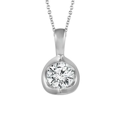 PC025S8YDDI- 14 K White Gold 0.25ctw diamonds pendant