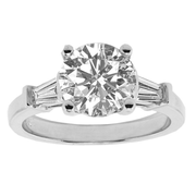 18k wg with GIA 1.70ct Center Stone, total weight 2.10ctw, Diamond Fancy Engagement Ring, GIA 2166914543