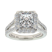 18K WG with GIA 2.01ct center stone, total weight 2.71ctw, Diamond Halo Engagement Ring with Center GIA 2.01ct Diamond 6173315958