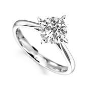 18k white gold 2.03 Ct diamond Solitaire ring