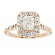 18K YG with GIA o.90ct, total weight 1.93 ctw Lady's Halo Engagement Ring