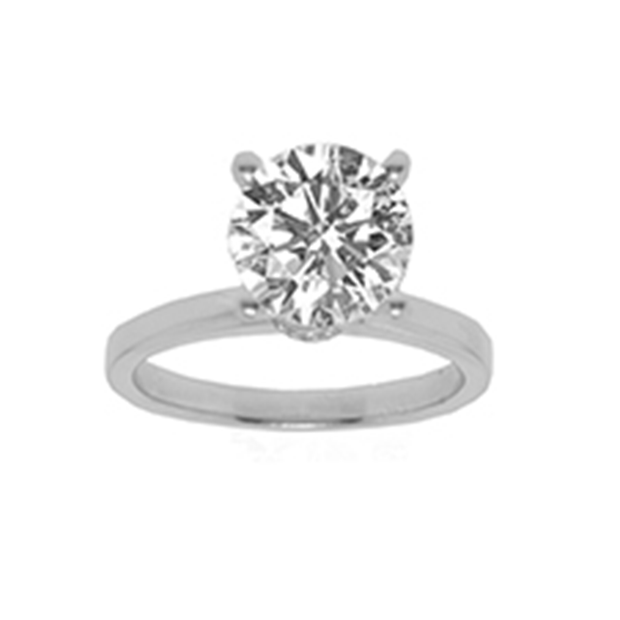 19K WG Diamond Classic Solitaire Ring 2.20ct