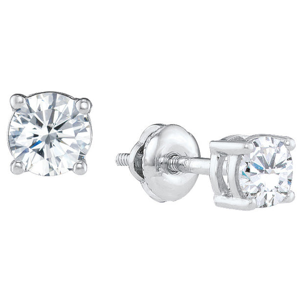 14K White Gold 0.50 Ctw. Diamond Stud Earrings