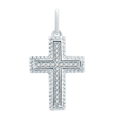 SKP18579-15BP - 10K White Gold 0.15ctw diamonds pendant