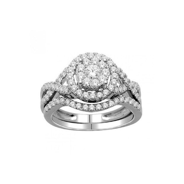 1.00-ctw-Round-Cluster-Double-Halo-Engagement-Diamond-Ring-set-Fame-Diamonds