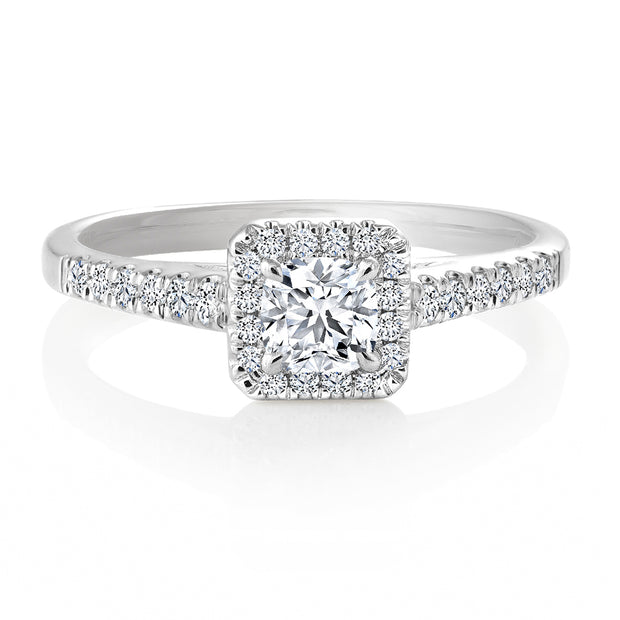 CR-R127592 - 14K White Gold Canadian Diamond Engagement Ring
