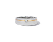 Effy 14K White & Yellow Gold Diamond Ring